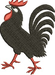 Black Rooster embroidery design