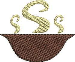 Steaming Bowl embroidery design
