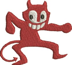 Crazy Devil embroidery design