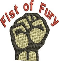 Fury Fist embroidery design