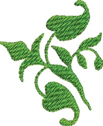 Leaf Vine embroidery design