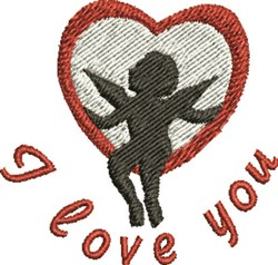 Love Cupids embroidery design