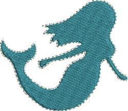 Mermaid embroidery design