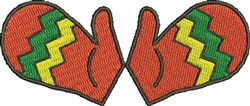 Mittens embroidery design