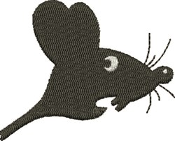 Scared Mouse embroidery design