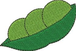 Peapod embroidery design