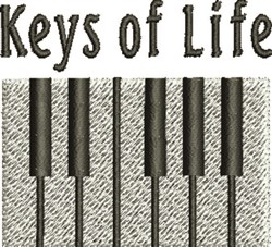 Keys of Life embroidery design