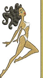 Pole Dancer embroidery design