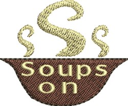 Soup Bowl embroidery design