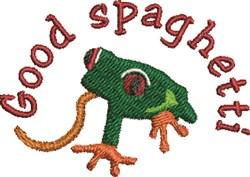 Spaghetti Frog embroidery design