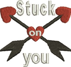 Stuck Heart embroidery design