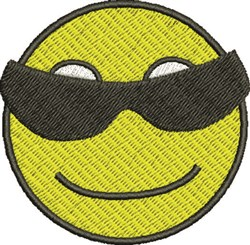 Sunglass Smiley embroidery design