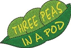 Three Peas embroidery design