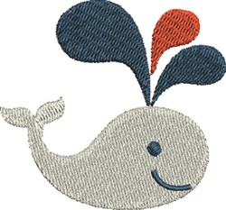 Whale Spouting embroidery design