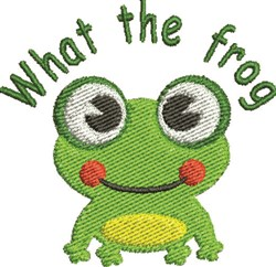 What The Frog embroidery design