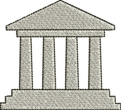 Greek Temple embroidery design