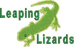 Leaping Lizards embroidery design