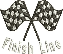 Finish Line embroidery design