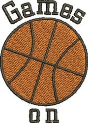 Basketball Game On embroidery design