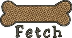 Fetch A Bone embroidery design