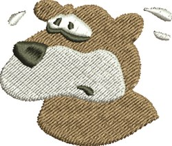 Scared Bear embroidery design