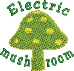 Electric Mushroom embroidery design