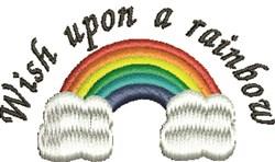 Wish Rainbow embroidery design