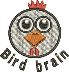 Bird Brain embroidery design