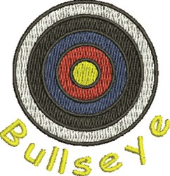 Bullseye embroidery design