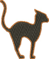 Small Black Cat embroidery design