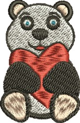 Love Bear embroidery design