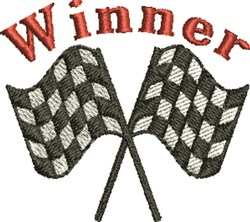 Race Winner embroidery design