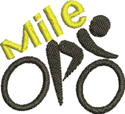 Cycle Mile embroidery design