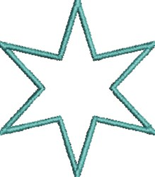 Outline Star embroidery design