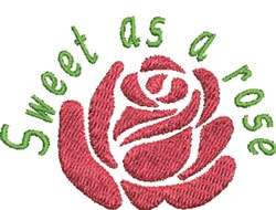 Sweet As Rose embroidery design