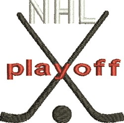 NHL Playoff embroidery design