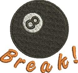 8 Ball Break! embroidery design