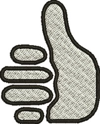 Thumbs Up embroidery design