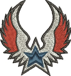 Star Wings embroidery design