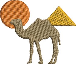 Pyramid Camel embroidery design