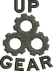 Gear Up embroidery design
