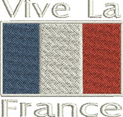 Vive La France embroidery design