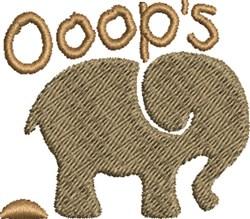 Elephant Ooops embroidery design