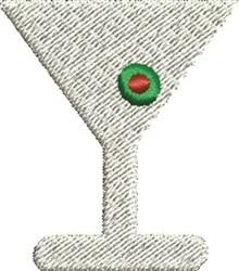 Martini Glass embroidery design