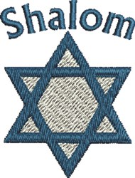 Shalom Star embroidery design