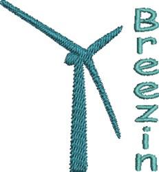 Breezin Wind embroidery design