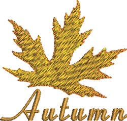 Autumn Leaf embroidery design