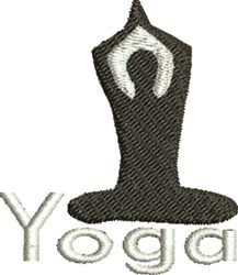 Yoga Man embroidery design