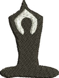 Yoga Figure embroidery design
