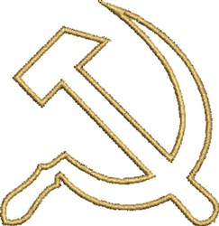 Hammer & Sickle embroidery design